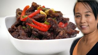 Chinese Crispy Beef Recipe (Stir Fried Spicy Crispy Beef)