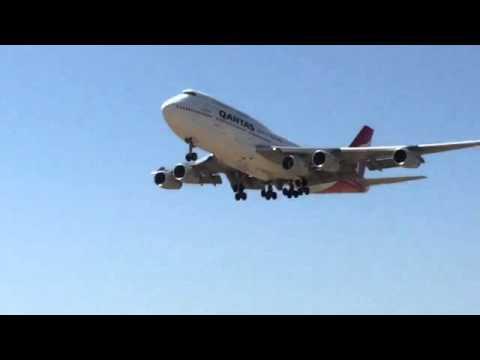 Qantas B747 5th Engine Ferry Perth