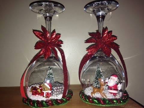 Snow globe candlestick holder tutorial