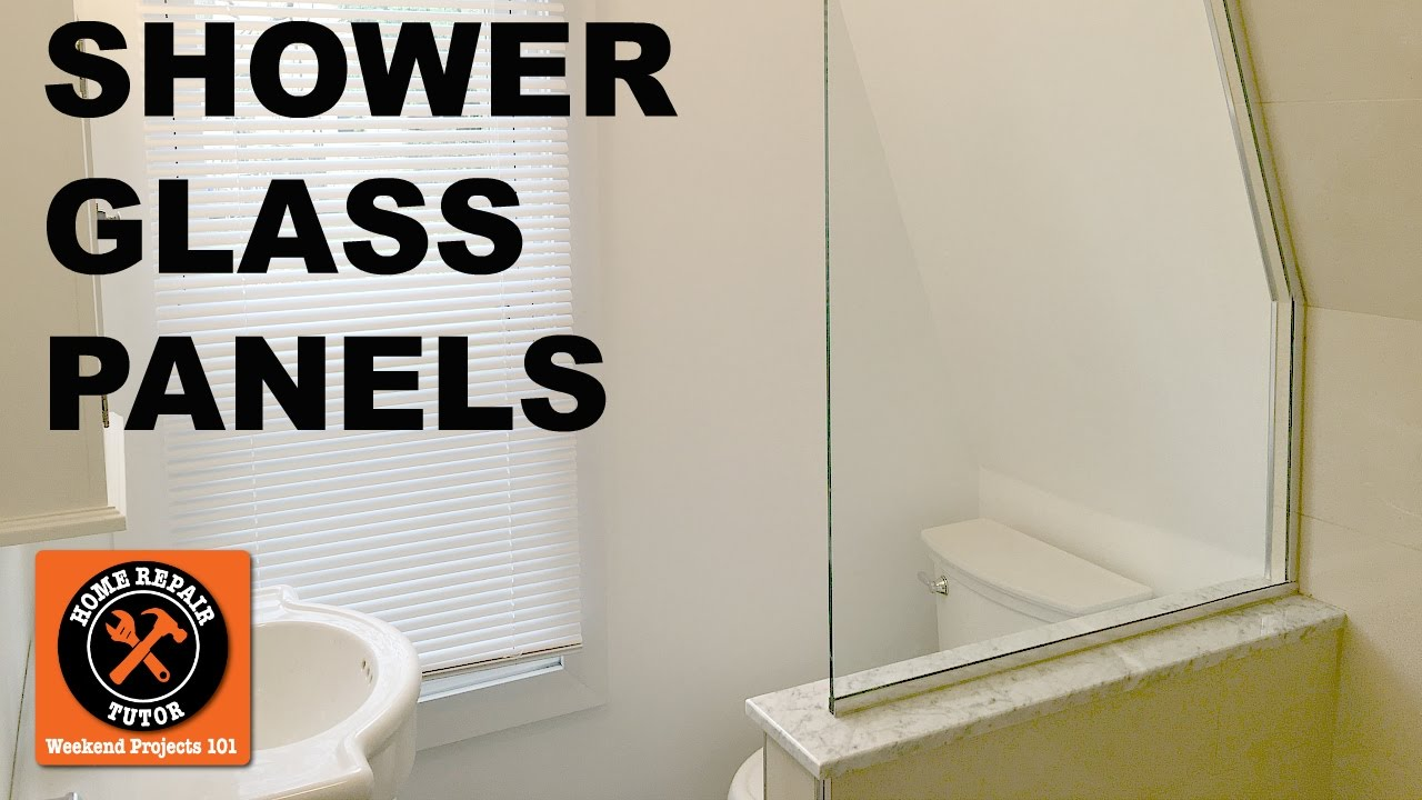 Shower Glass Panels How To Template Amp Install Step By