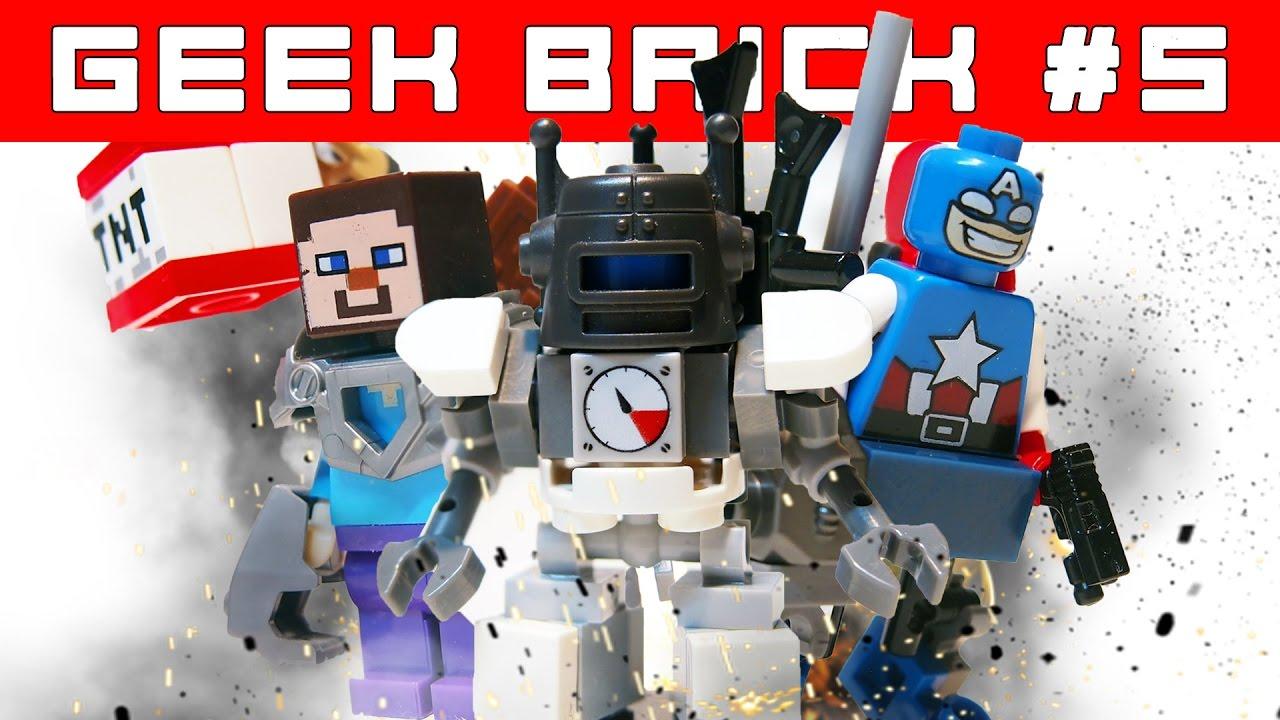 Minecraft и MARVEL LEGO-Самоделки: крутые фигурки   Контрольная закупка Geek Brick