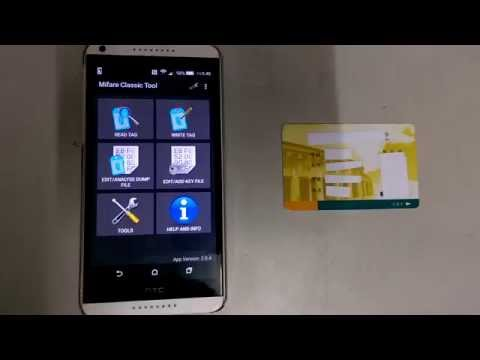 Crack Mifare card key using brute-force attack with NFC smartphone and Mifare Classic Tool(Modified)