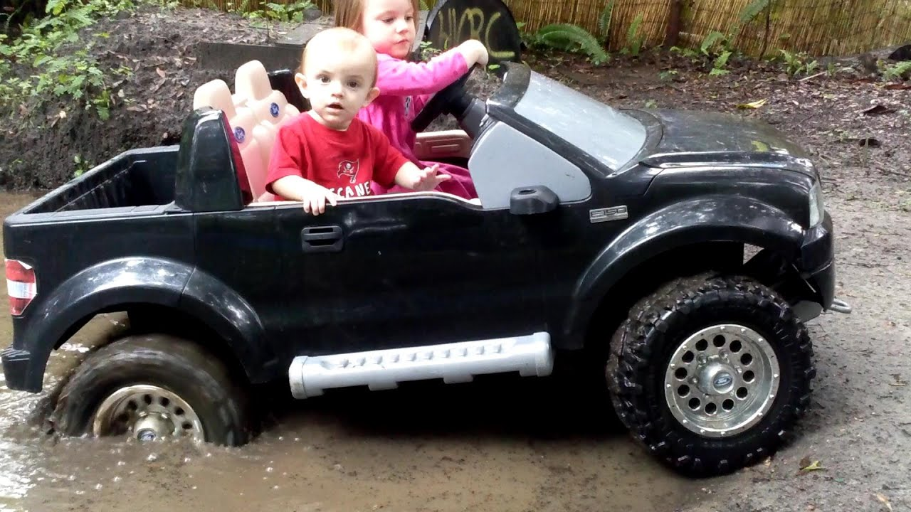 High Volts Rc Power Wheels Mudding Tommy S First Mud