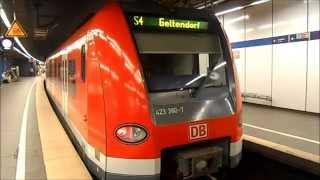 S-Bahn München - Züge im S-Bahnhof Karlsplatz (Stachus)