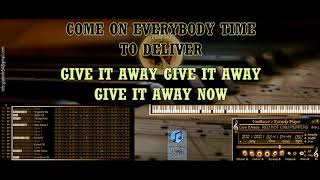 Give It Away RED HOT CHILI PEPPERS KARAOKE BASI MIDI DEMO SOUNDFONT
