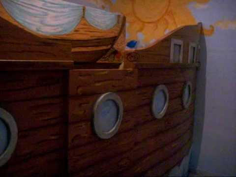 Letto A Forma Di Nave Pirata : Kiddi style letto a forma di barca del pirata letto in legno per
