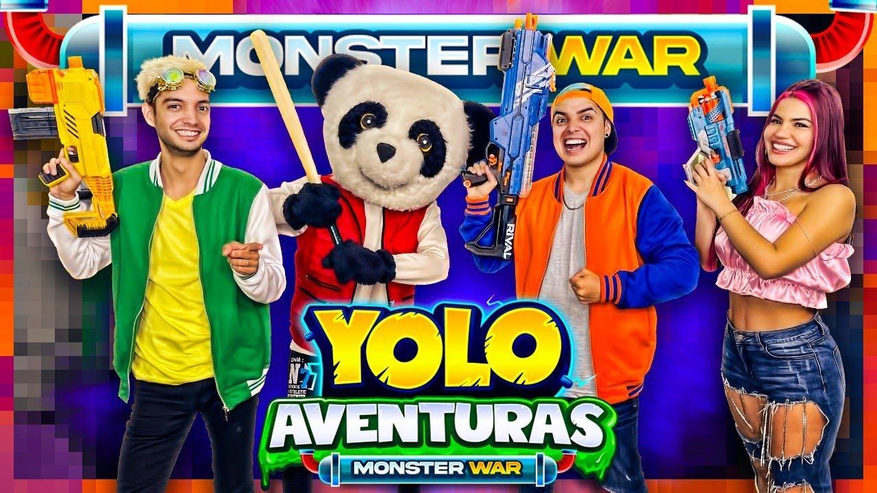 ¡24 HORAS VIVIENDO ADENTRO DE UN VIDEOJUEGO! - Yolo Aventuras Monster War