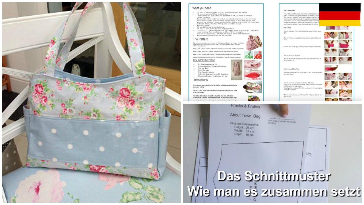 Wie man eine Tasche näht - Das Schnittmuster erklärt (Out & About ...