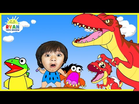Download Youtube: Dinosaur Cartoons for Children! Ryan ToysReview rescue baby T-REX Animation for Kids