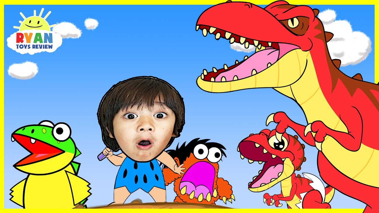 Dinosaur Cartoons for Children Ryan ToysReview rescue
