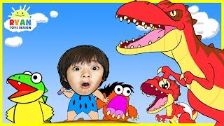 connectYoutube - Dinosaur Cartoons for Children! Ryan ToysReview rescue baby T-REX Animation for Kids