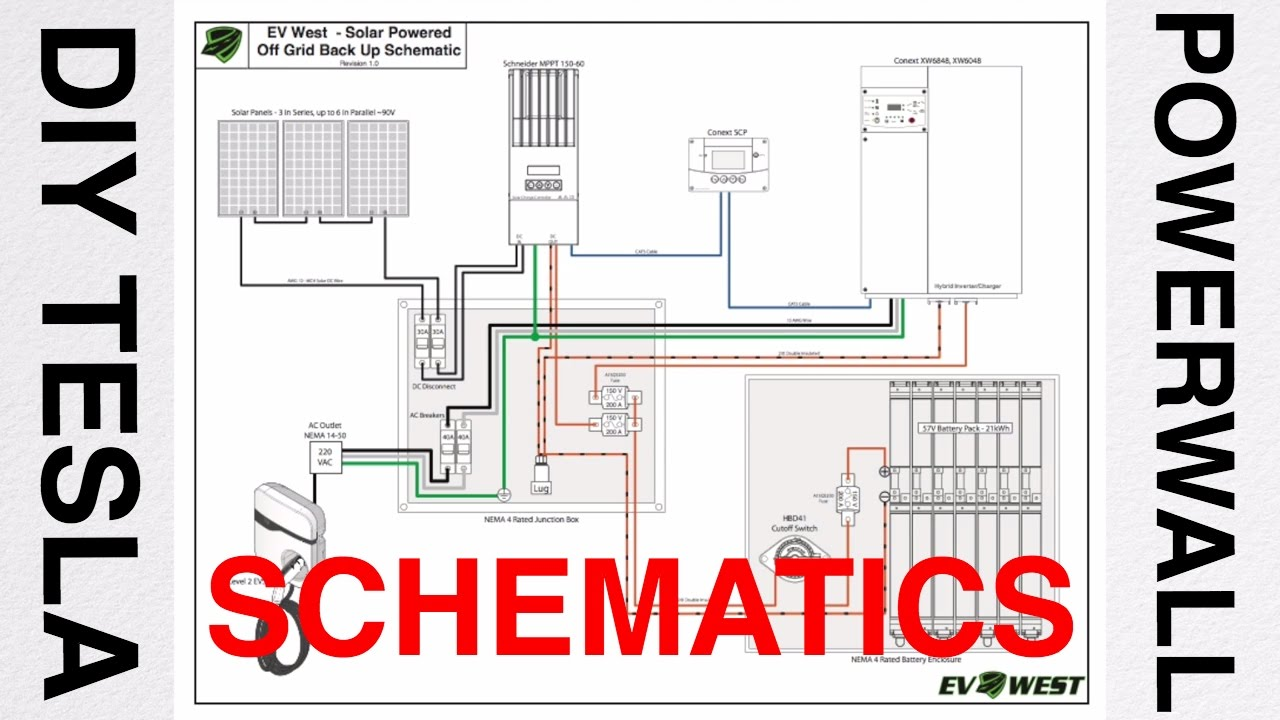 DIY TESLA Powerwall talk #3  Schematic Diagram  YouTube