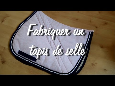 tuto 6 fabriquer un tapis de selle tutoriel d taill youtube. Black Bedroom Furniture Sets. Home Design Ideas