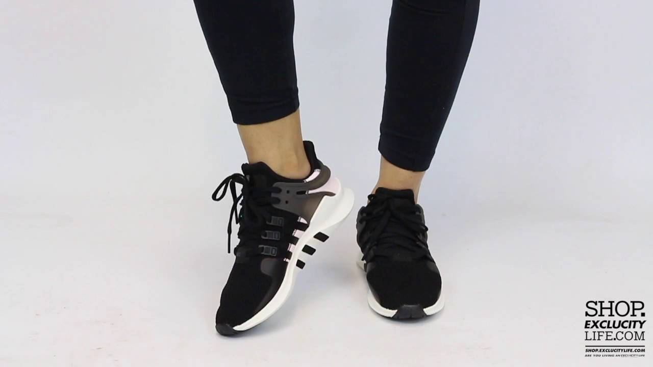 7739ce1f84a7 Women s Adidas Equiment Advance Support W Black - Pink On feet Video ...