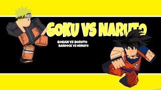 Goku Vs Naruto Fight - Roblox Clip ? Boruto Vs Gohan Minato Vs Bardock - [Roblox X MMD]