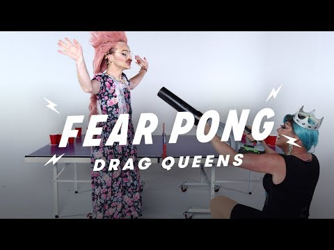 Drag Queens Play Fear Pong  (Strawberry Shartcake cake vs. Isabella)