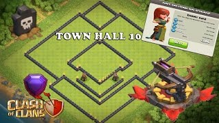 "Clash Of Clans | ""NEW"" BEST TOWN HALL 10 (TH10) FARMING BASE w/275 Walls 