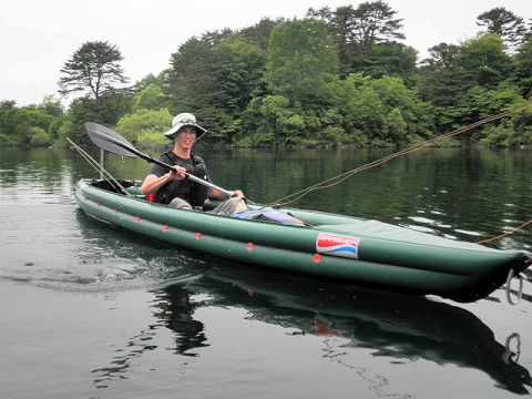 Kayak fly fishing for bass youtube for Fly fishing canoe