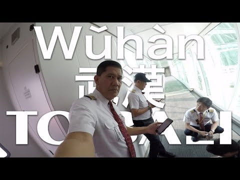 Cockpit View - Wǔhàn 武漢 to BALI