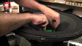 18 Inch Speaker Recone - Eminence Omega Pro(Showing how I recone pro speakers in the case they blow out., 2012-08-07T00:31:41.000Z)