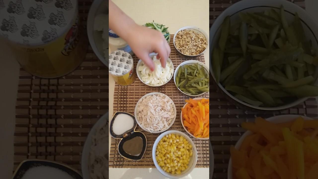 Çipsi salatının hazırlanması