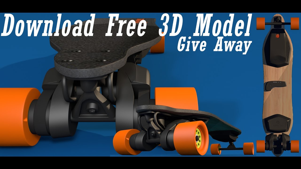 Boosted Board Free 3D Model Download Skate Board  GiveAway  YouTube