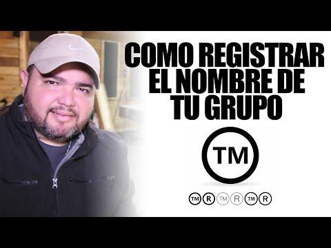 COMO REGISTRAR EL NOMBRE DE TU GRUPO