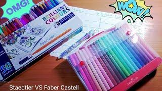Staedtler VS Faber Castell/Какие фломастеры выбрать?!