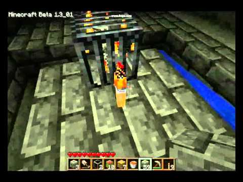 how to make a lava trap in minecraft
