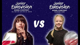 Junior Eurovision 2019 VS Junior Eurovision 2020 | BATTLE