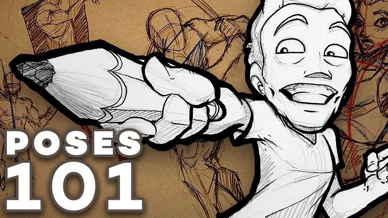 How To Draw Dynamic Poses Action Foreshortening Construction