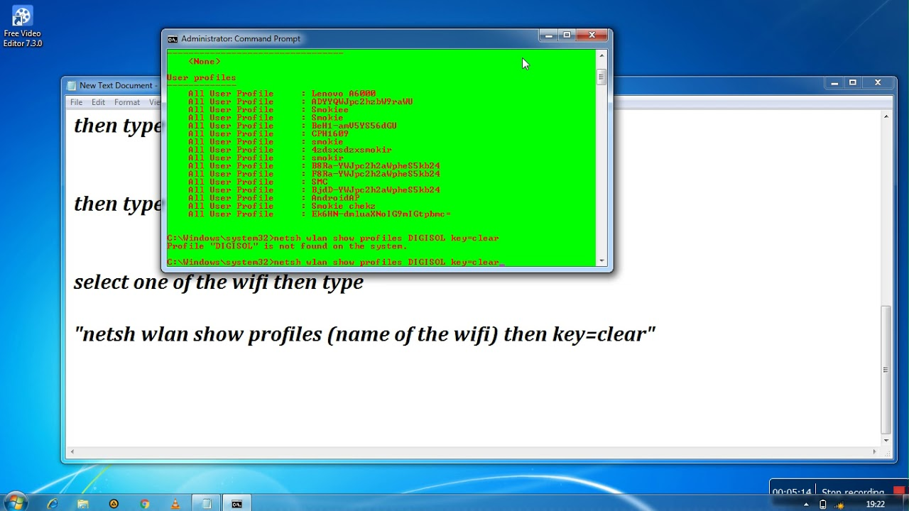 how to get any wifi password using cmd