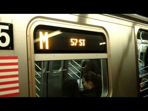 IND Sixth Avenue Line: 57th Street-bound R160A M Train@34th Street/Herald Square