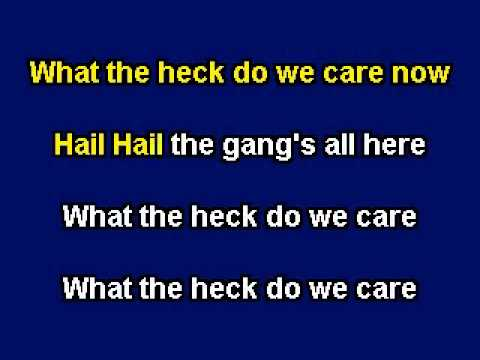 Hail, Hail The Gang's All Here, Karaoke video with lyrics, with demo singer