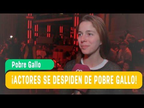 ¡Actores de Pobre Gallo se despidieron de la teleserie! / Mega