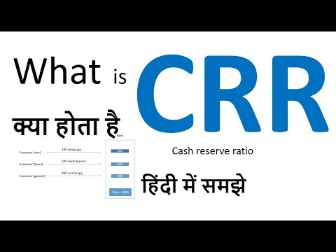 What is CRR in Hindi  |(cash reserve ratio) and NDTL || CRR क्या होता है ||