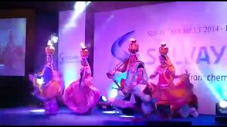 Rajasthani dance performers displaying Rajasthani Ghoomar dance in stage show. 9891479771