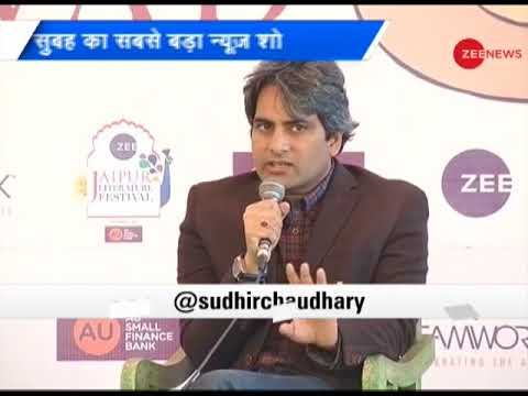 Sudhir Chaudhary conducts media session on last day of Zee Jaipur Literature fest