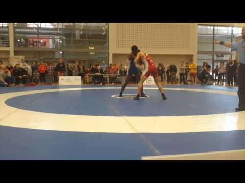 2015 Senior Greco-Roman National Championships: 66 kg Kevin Iwasa-Madge vs. Promise Mwenga