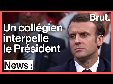 Écologie et argent : un collégien interpelle Emmanuel Macron