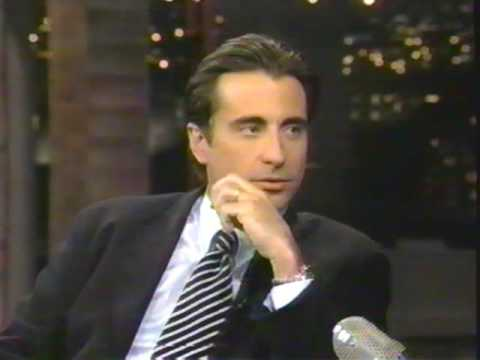 Late  David Letterman  Andy Garcia  Night Falls On Manhattan  1997