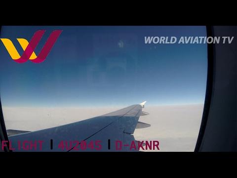 Germanwings A319 4U2045 Full Flight Hamburg - Stuttgart [HD]