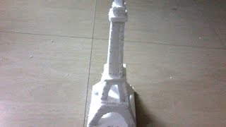 DIY: How to make Eiffel tower using Thermocol for kids - school project