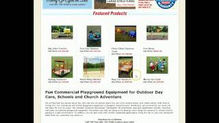 Commercial Playground Equipment For Daycares, School, Churches
