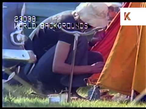 1970s UK Young People at Campsite, Camping, Music Festival