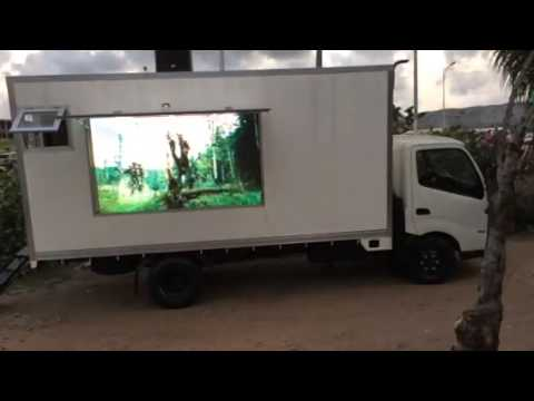 Giant led screen on moving vehicle made in ghana by appa le