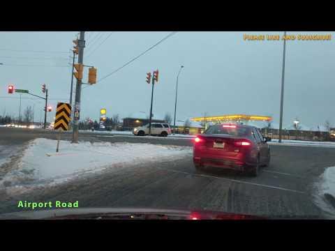 [4K] Near Christmas Snowfall Driving in Brampton and Mississauga Canada