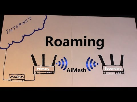 how to connect two rt-ac68u in aimesh