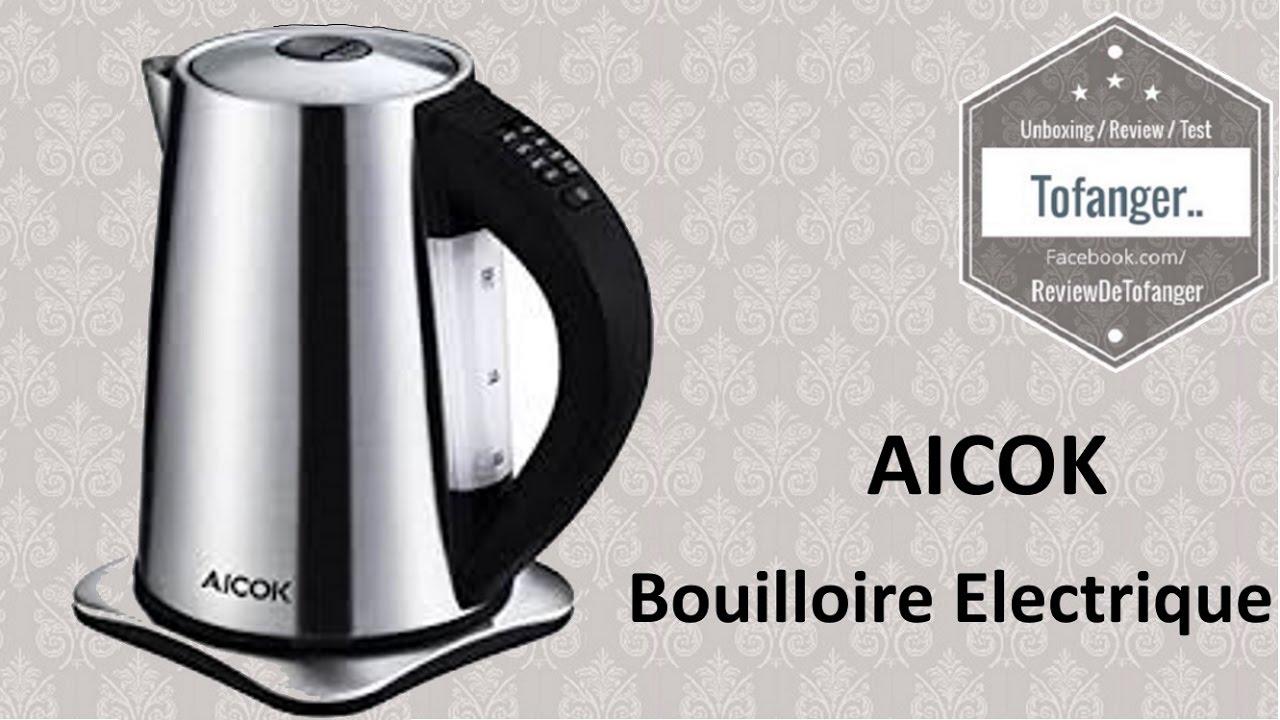 Aicok Bouilloire électrique avec thermostat réglable, très sympa ...