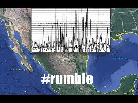 Laguna Baja California Sur, Mexico Seismogram shows BIG rumble! - Yucatan